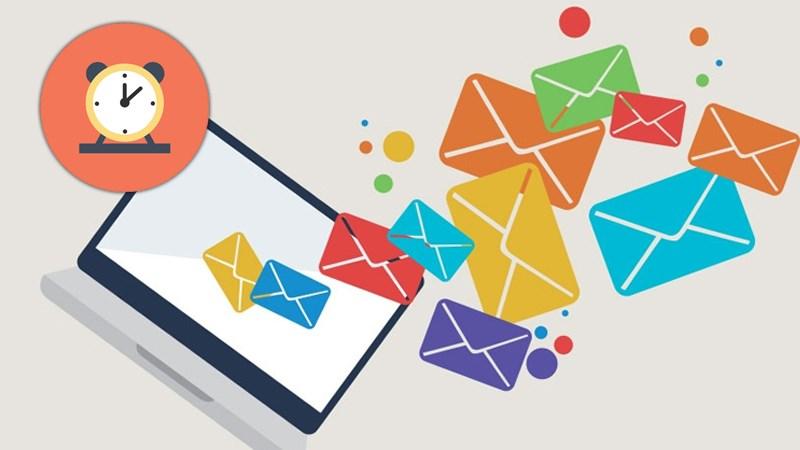 Ngày và giờ gửi email trong tuần