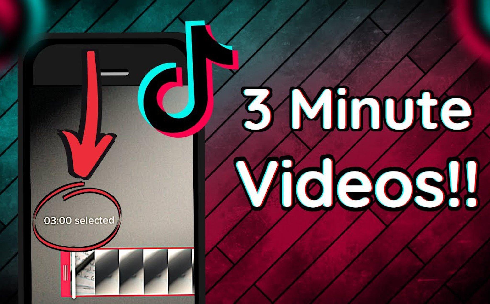 Thời lượng video đăng lên Tiktok có thể lên đến 3 phút