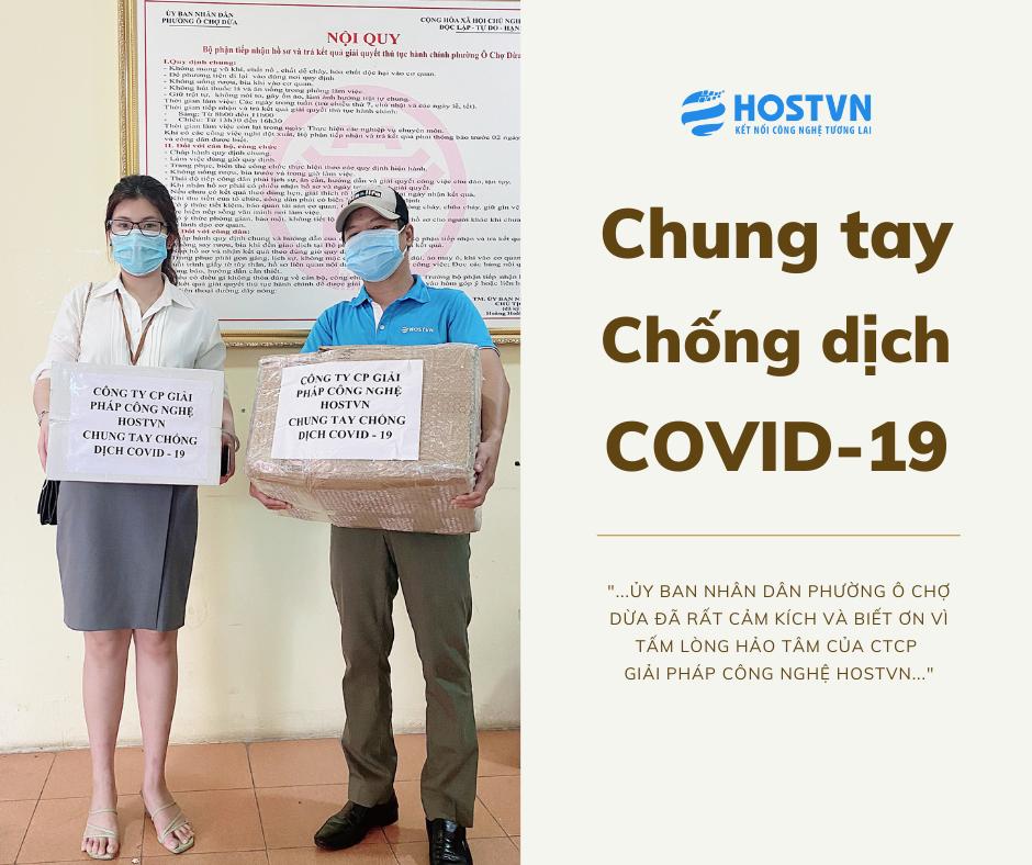 Ủy Ban Nhân Dân Phường Ô Chợ Dừa cảm ơn CTCP Giải pháp Công nghệ HOSTVN