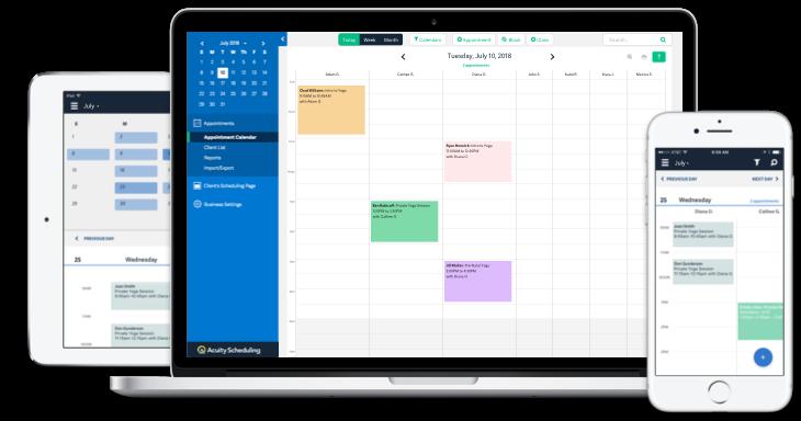 Acuity Scheduling là phần mềm đặt lịch hẹn dành cho doanh nghiệp